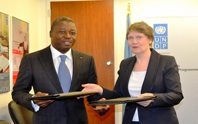 Faure Helen Clark - Entretien entre Faure Gnassingbé et Helen Clark, administrateur du PNUD: le PUDC au cœur des échanges