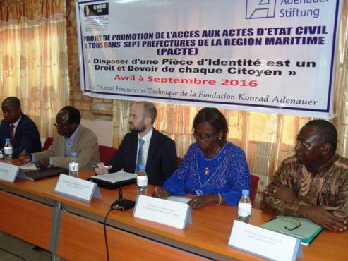 """Projet PACTE de CNSC 1 493x370 - Promouvoir l'accès aux actes d'Etat civil au Togo: La CNSC-Togo  lance le """"PACTE"""""""