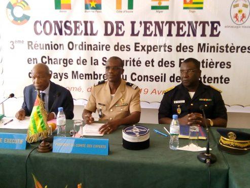 """IMG 20180417 085546 493x370 - Menaces sécuritaires dans l'espace du Conseil de l'Entente: les experts des ministères en charge de la sécurité vont examiner le """" Mécanisme Entente de Renseignement"""" à Lomé"""