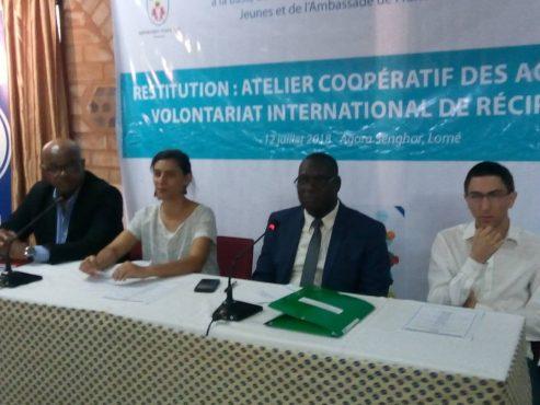 IMG 20180713 WA0014 493x370 - Développement du volontariat international de réciprocité: l'ANVT et France Volontaires restituent les recommandations des rencontres de Lomé et de Niamey