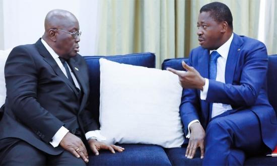 e65c08bd652f5870b0a7c15f80a13a37 L - Coopération Togo-Ghana : Faure Gnassingbé chez son homologue Nana Akufo-Addo