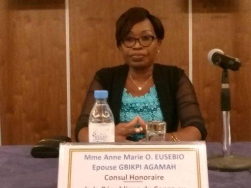Anne Marie EUSOBIO épouse GBIKPI AGAMAH Consule du Congo au Togo 493x370 - Consulat honoraire  du Congo  au Togo : un nouveau départ!