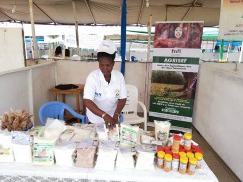 IMG 20190407 WA0113 768x575 494x370 - Des bénéficiaires du FNFI font parler d'eux à la foire agricole du Forum National du Paysan Togolais
