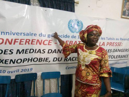 Nadia Zibilila 493x370 - Génocide rwandais : le Centre d'Information des Nations Unies au Togo rappelle aux hommes des médias leur rôle dans la promotion de la paix