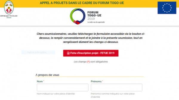 appel à projets forum économique Togo ue 600x337 - Forum économique Togo-UE: appel à 100 projets bancables!