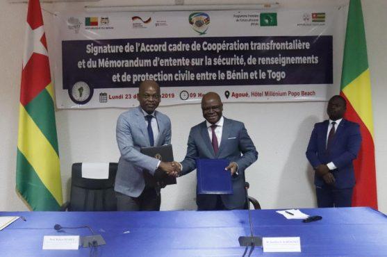 IMG 20191224 WA0003 557x370 - Le Togo et le Bénin renforcent leur coopération transfrontalière