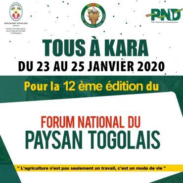 IMG 20200114 WA0027 370x370 - Agriculture : tous à Kara pour le Forum National du Paysan Togolais du 22 au 25 janvier