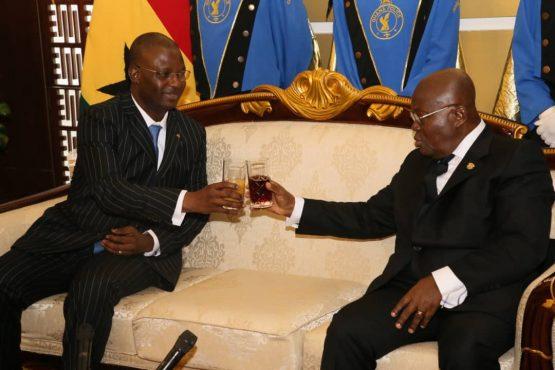 IMG 20200131 WA0044 555x370 - Diplomatie : le nouvel Ambassadeur du Togo au Ghana présente ses lettres de créances au Président Akoufo- Addo