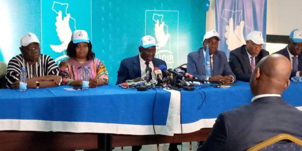 Conf.presse UNIR 600x300 - Présidentielle 2020: UNIR salue une victoire «belle» et « historique» de son candidat Faure Gnassingbé