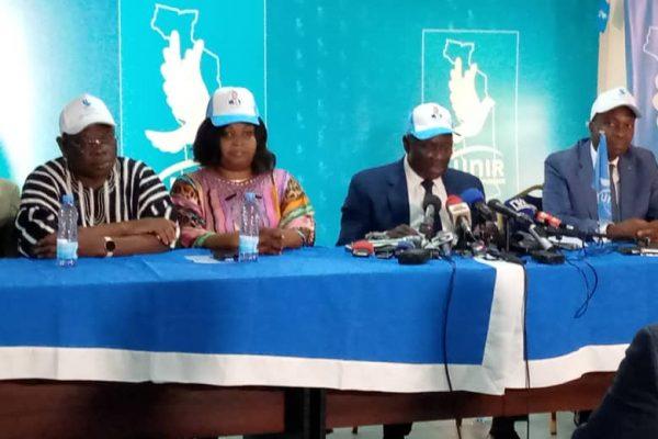 Conf.presse UNIR 600x400 - Présidentielle 2020: UNIR salue une victoire «belle» et « historique» de son candidat Faure Gnassingbé