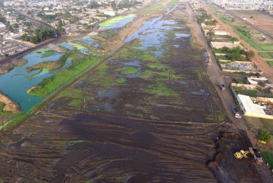 4ème Lac 550x370 - PAUT 2: des quartiers de la périphérie Est de Lomé sauvés des eaux!