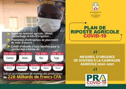 Riposte covid 19 ministère agriculture 521x370 - Corona virus: PRA COVID-19, un plan de riposte spécifique au secteur agricole