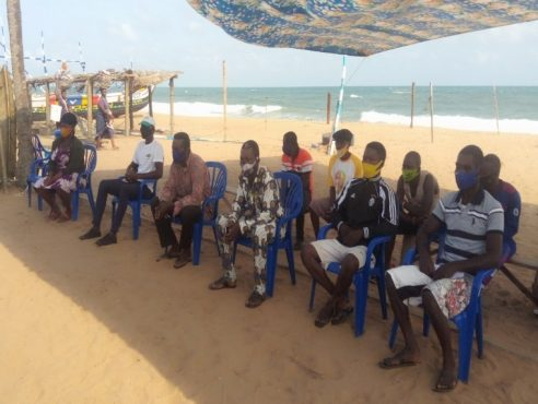 sensib pêche 1 492x370 - Togo: des acteurs de la pêche artisanale sensibilisés sur les mesures de sécurité en mer