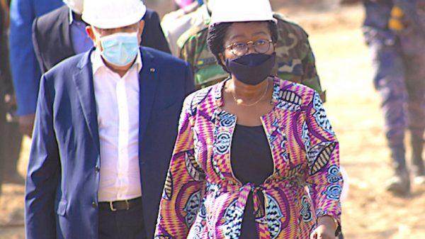 Visite IFAD Barkoissi 600x337 - IFAD de Barkoissi: Victoire Tomégah-Dogbé satisfaite de l'évolution des travaux