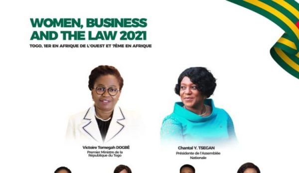 Women Business and the Law 2021 600x347 - «Women, Business and the Law 2021»: belle percée pour le Togo