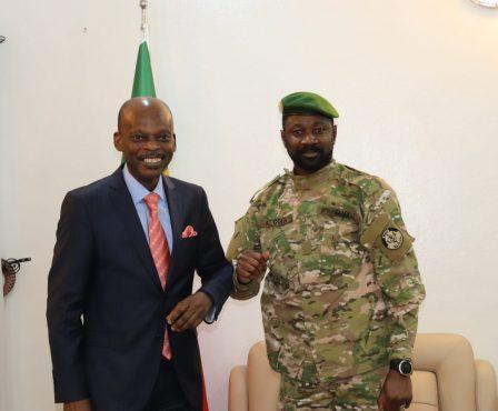 Dussey Assimi Goita 448x370 - Diplomatie : à Bamako, Dussey et les autorités maliennes condamnent les attaques terroristes de mars en Afrique
