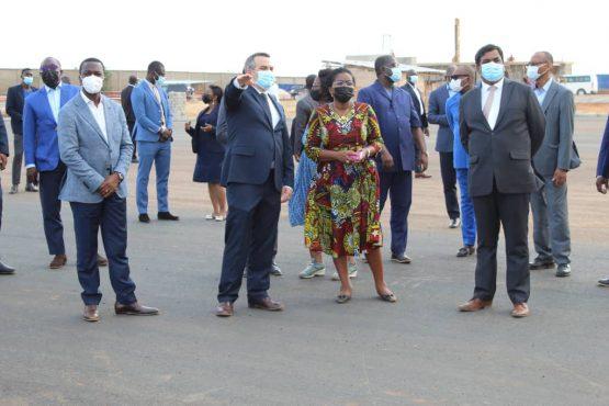 Visite PIA 555x370 - Togo/ PIA: les travaux avancent bien, constate Victoire Tomégah-Dogbé