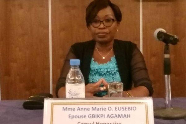 Anne-Marie EUSOBIO épouse GBIKPI -AGAMAH, Consule du Congo au Togo